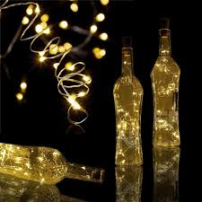wine bottle string lights 2m 20led silver wire string lights wine bottle cork lights