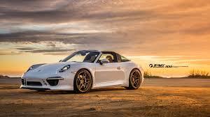porsche 911 targa white porsche 911 targa poses with matte bronze adv 1 wheels