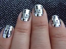 metallic nail foil wraps nail patch nail foil wraps silver skulls review everysensory and