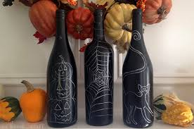 Recycled Halloween Crafts - a spooky kind of fun recycled halloween wine bottle craft
