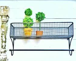 Shabby Chic Wire Basket by Gunmetal Grey Large Urban Loft Wire Basket Lotion Holder