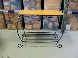 Wood Bakers Rack Wrought Iron Bakers Rack For Kitchen Home Painting Ideas