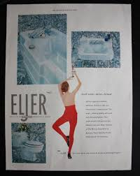 Eljer Wall Hung Toilet 1955 Eljer Bathroom Fixtures 1950s Tub Sink U0026 Toilet Print Ad