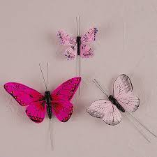 Butterfly Cake Decorations On Wire Butterfly Cake Decorations Set Of 24 The Knot Shop