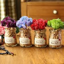 Fake Flowers For Home Decor Aliexpress Com Buy Diy Mini Creative Succulent Plants Glass