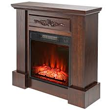 27 u2033 freestanding white mantel shelf electric fireplace w 3d flame