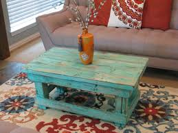 antique white distressed coffee table coffee table rustic distressedee table with aqua color pop finish