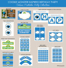 cookie monster printables party package cookie monster