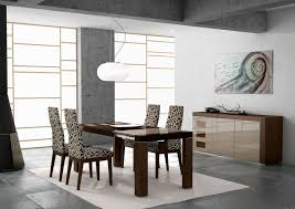 contemporary dining room sets neutral area rug under elegant modern dining room table and
