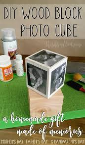 Wood Crafts For Gifts by Diy Wood Block Photo Cube A Homemade Gift Of Memories Diy Wood