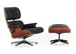Ottoman Dimensions by Eames Lounge Chair And Ottoman Nero Leather Santos Palisander Wood
