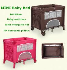 Mini Crib With Storage 2016 Baby Bed Folding Overthrow Prevention Crib Portable Storage