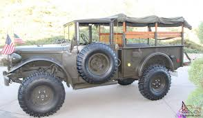 baja truck street legal dodge m37b restored military off road street legal 4x4 truck rare
