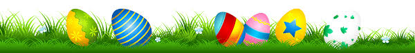 easter eggs in grass clip art u2013 happy easter 2017
