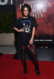 vanessa hudgens at halloween horror nights opening night in