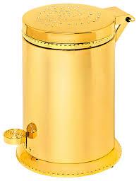 Yellow Wastebasket Sweet Toilet Waste Basket Swarovski Crystal Contemporary
