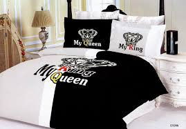 Couples Bed Set Crown Bedding Royal Duvet Cover Bed Set
