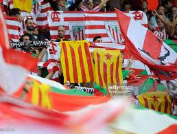 The Spain Flag Athletic Bilbao Fans Hold U0027esteladas U0027 Catalan Pro Independence