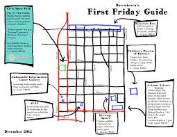 Map Phoenix Arizona by Downtown U0027s First Friday Guide Downtown Phoenix Inc
