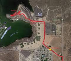 lake pleasant map lake pleasant regional park arizona adventurers