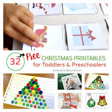 32 free christmas printables for toddlers and preschoolers