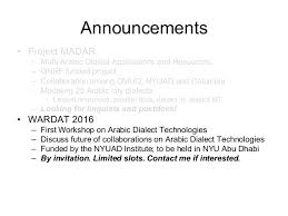keynote computational processing of arabic dialects challenges ad u2026