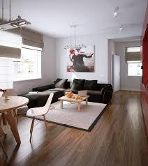 deco canape marron design interieur deco salon moderne canapé marron sombre tapis