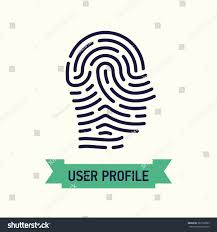 user profile minimalistic web flat line stock vector 387782833