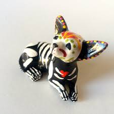 Halloween Skeleton Dog by Day Of The Dead Chihuahua Dog Sugar Skull Pet Memorial Dia De