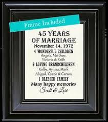 45 year anniversary gift anniversary gift for parents 45 year anniversary 45th year of