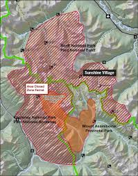 Wildfire Haze Map by Parks Canada Moves To Protect Sunshine Village Buildings From