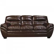 Ashley Leather Sofa And Loveseat Ashley Furniture Tassler Durablend Sofa In Mahogany Local