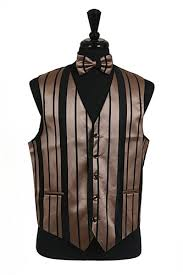 vs4010 vest tie bowtie sets black mocha combination
