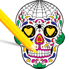 scary halloween coloring pages sugar skulls hack cheats
