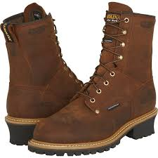 Are Logger Boots Comfortable Carolina Men U0027s Waterproof Insulated Logger Boots U2014 8in Model