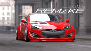 2013 hyundai elantra coupe accessories remake widebody rear flares genesis coupe 2013 2015 kdm