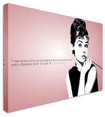 audrey hepburn quote pink canvas wall art pictures for home audrey hepburn quote pink canvas wall art pictures for home
