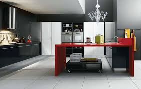 Red And Black Kitchen Ideas Marvellous Design Red White And Black Kitchen Designs Photos On