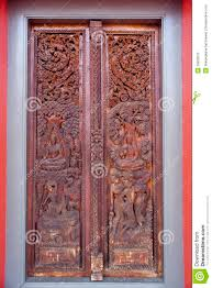 wooden door with ornaments royalty free stock images image