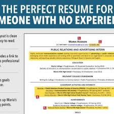How To Write Resume With No Experience How To Make A Resume No Job Experience Template Work Examples And