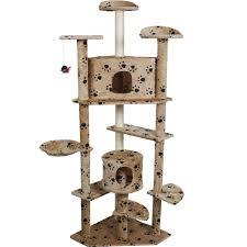 cat furniture costway beige paws new 80 u0027 u0027 cat tree condo furniture scratch post