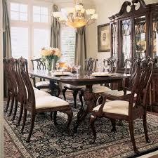 american drew cherry grove 9 piece dining room set in maeve 7