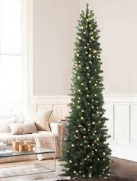 stunning ideas pencil tree 7 ft pre lit green artificial