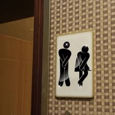 funlife bathroom sign wall sticker male female toilet direction