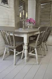 shabby chic kitchen table and chairs white wooden armoire grey
