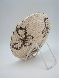 tohono o odham papago indian basket with butterfly designs