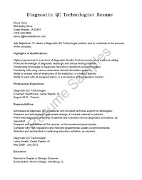 medical laboratory technologist resume sample medical lab