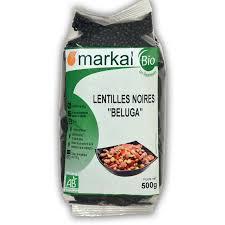 cuisine lentille lentilles noires beluga légumineuses sèches bio markal