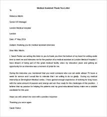 medical assistant thank you letter template download templatezet