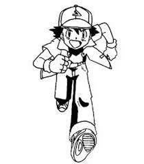 ash pokemon and pikachu colouring page for kids happy colouring